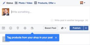 tag produse pe facebook